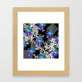 MODERN TOILE BLACK AND WHITE PATTERN Framed Art Print