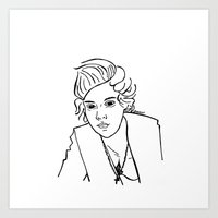 harry styles Art Prints featuring Harry Styles by Rosalia Mendoza
