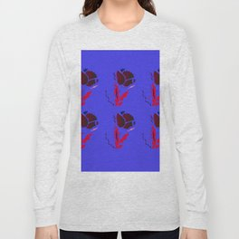 Luxury Folk Flowers Premium Illustration Long Sleeve T-shirt