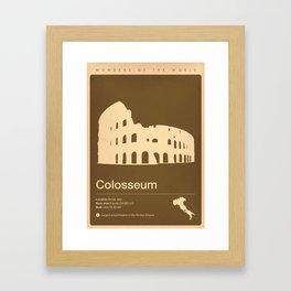Colosseum, Italy Framed Art Print