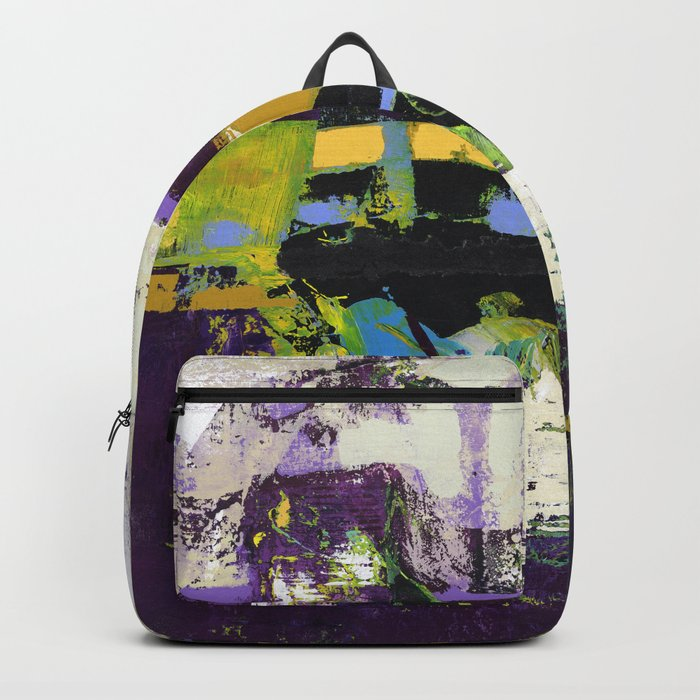 Controversy Prince Deep Purple Abstract Painting Modern Art Backpack