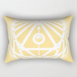 Radiant Abundance (light yellow-white) Rectangular Pillow