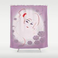 greek Shower Curtains featuring  Greek Goddess  by AmadeuxArt