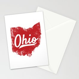 Ohio Gift I Love My Ohio Home Cleveland Cincinnati Akron OH Stationery Cards