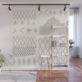 Moroccan Patchwork in Cream and Grey Wall Mural