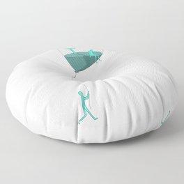 So far away up in the ballon Floor Pillow