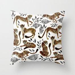 Cheetah Collection – Mocha & Black Palette Throw Pillow