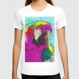 parrot ara art #ara #parrot #animals T-shirt