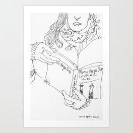 Mario Vargas Llosa reader Art Print