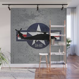 SH-60 Seahawk Helicopter Wall Mural