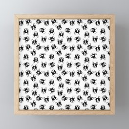 French bulldog pattern Framed Mini Art Print