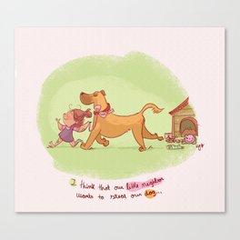 Little neighbor! Pets! Canvas Print