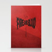 targaryen Stationery Cards featuring House Targaryen - Fire and Blood by Jack Howse