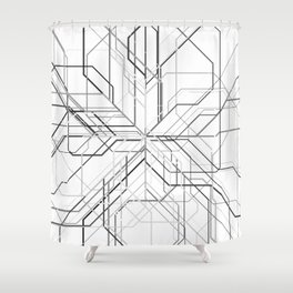 Wyre White Shower Curtain