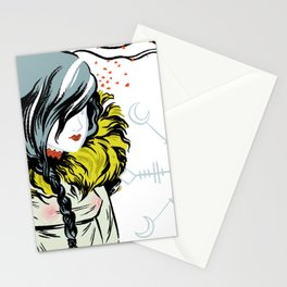 Funeral Lillies Stationery Cards