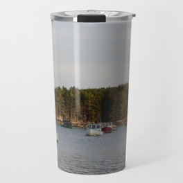 Lobster Boats Travel Mug