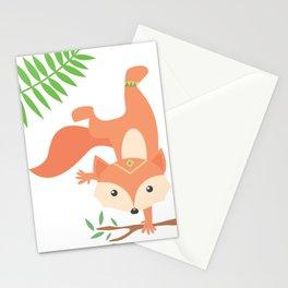 Little Yogi Fox Stationery Cards