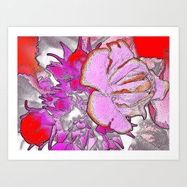 PURPLEPINK BLOSSOM Art Print