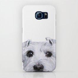 Schnauzer original Dog original painting print iPhone Case
