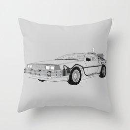 DeLorean DMC-12 Throw Pillow