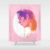 dylan Shower Curtains featuring Dylan O'Brien by vulpae