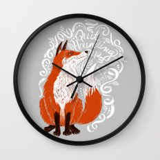 The Fox Says Wall Clock