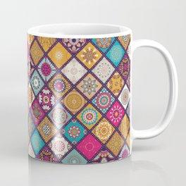 Flowers In Squares Pattern Coffee Mug