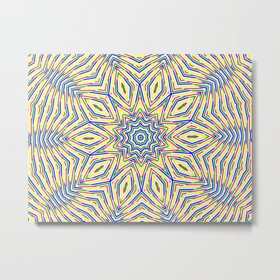 Kaleidoscope Colourful Stripes Metal Print