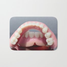 Medical denture jaw teeth model Bath Mat