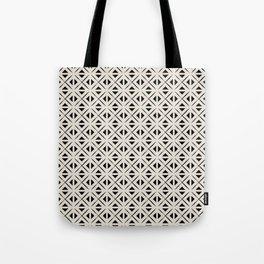 Bohemian Tile in Black and Cream Tote Bag