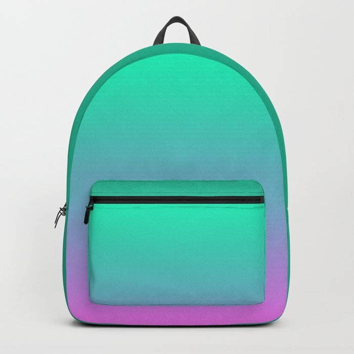 Pink turquoise , blue Ombre Backpack