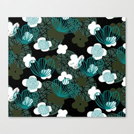 Kokedama Garden M+M Greens by Friztin Canvas Print