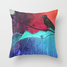 """Manifest"" Original painting by Carly Mojica Throw Pillow"