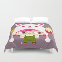 doll Duvet Covers featuring Doll by Geek
