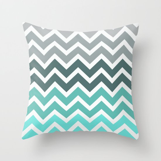 Tiffany Fade Chevron Pattern Throw Pillow