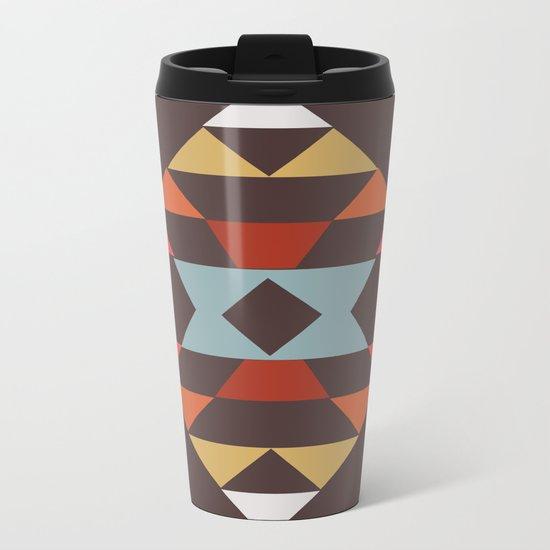 American Native Pattern No. 44 Metal Travel Mug