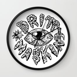 Drittmaskin - Crazy Eye & Weapons Wall Clock