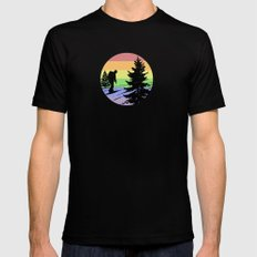 Hiking MEDIUM Black Mens Fitted Tee