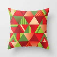 strawberry Throw Pillows featuring strawberry by Gray