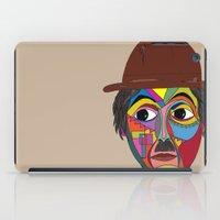 charlie chaplin iPad Cases featuring Charlie Chaplin by JeeArt