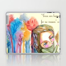Trees are happy for no reason Osho quote inspirational words Laptop & iPad Skin