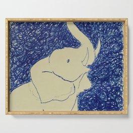 Elephant Doodle # 2 Serving Tray