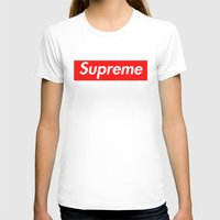 supreme T-shirts featuring Supreme Red by Jason Vaughan
