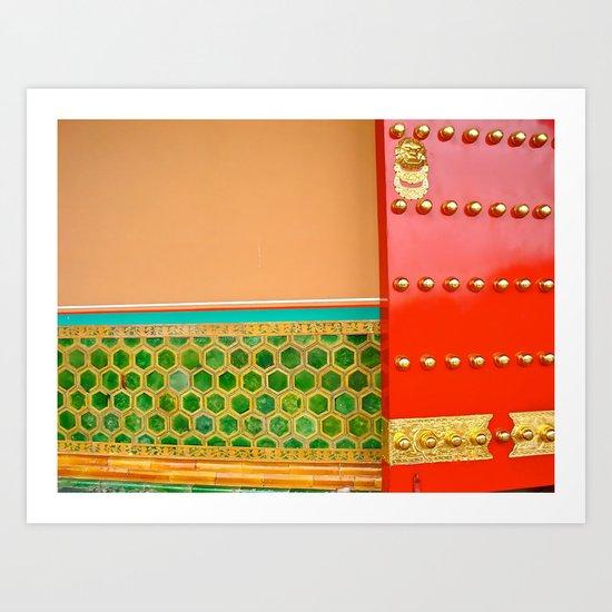 Red Door in the Forbidden City Art Print