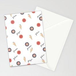 Pizza, Pasta, Gelata. Stationery Cards