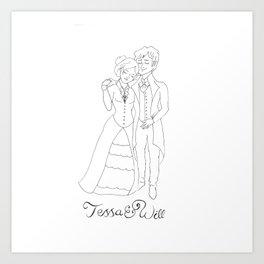 Tessa & Will Art Print