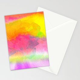 Colorful Watercolor Abstract Stationery Cards
