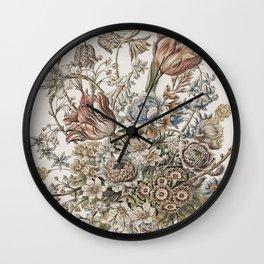 Fleur Vintage Bouquet Wall Clock