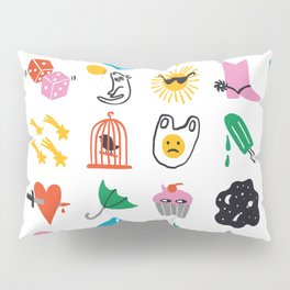Relevant Symbols Pillow Sham
