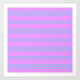 Simple Lines Pattern pl Art Print